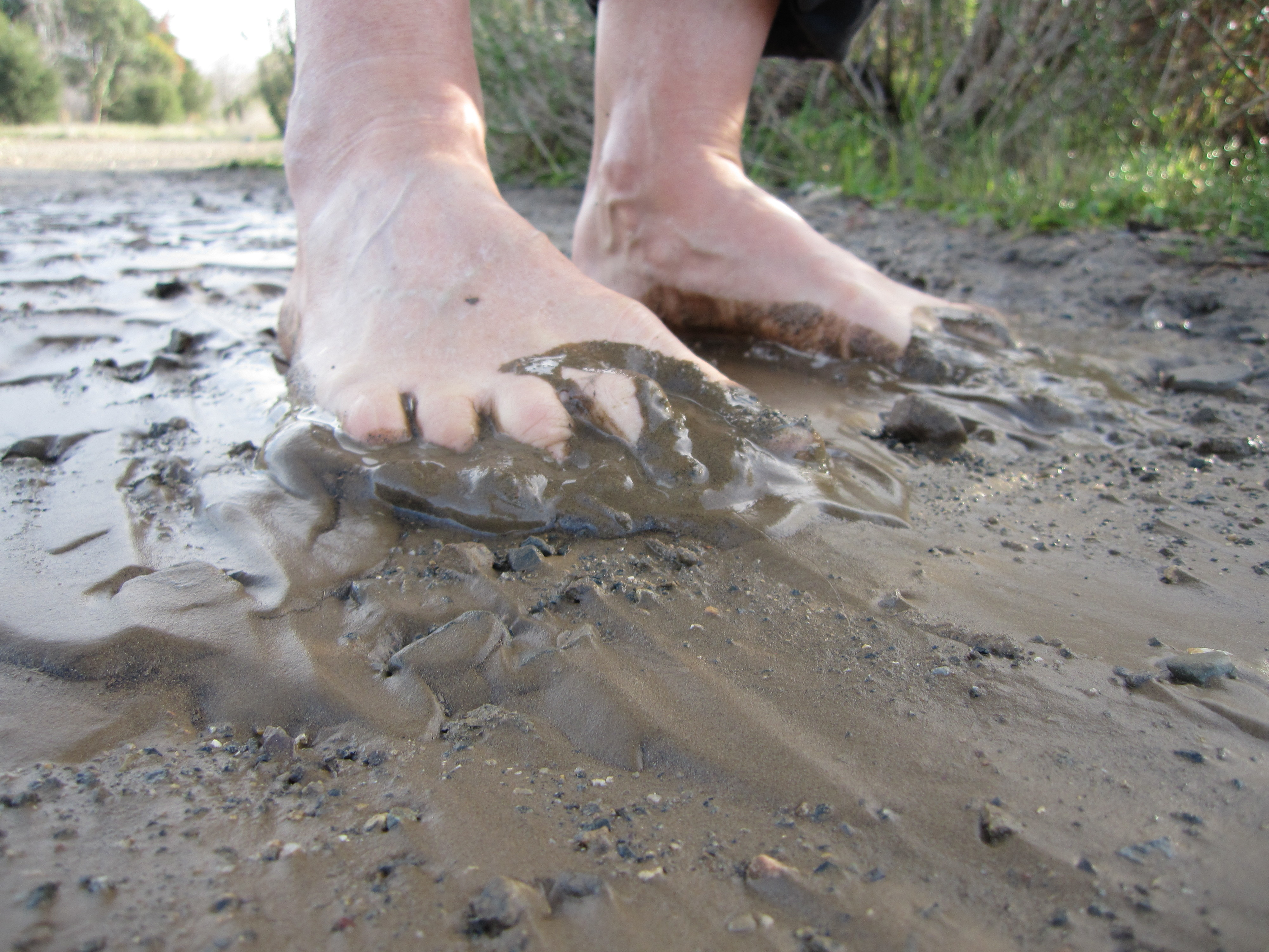 Image result for image barefeet in mud