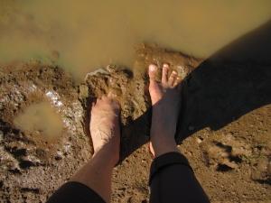 Happy mud feet.