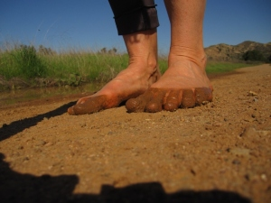 Five fingers? No Vibram sole required . . .