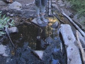 Crossing Fish Creek on the way up Mt. San Gorgonio