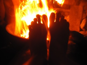 Nothing like a campfire to warm and sooth the toes after a long day of wandering the Sierra Nevada high country.