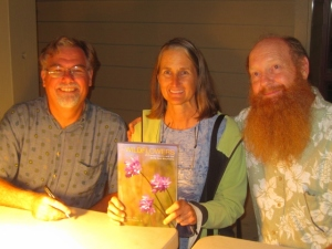 "Posting with the authors of ""Wildflowers of Orange County and the Santa Ana Mountains"" -- Fred Roberts and Bob Allen. They were generous enough to include one of my wildflower poems in their fabulous new field guide."