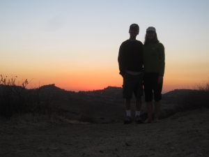 Sunset on Puma Ridge, courtesy of the 10-second time on my little pocket camera