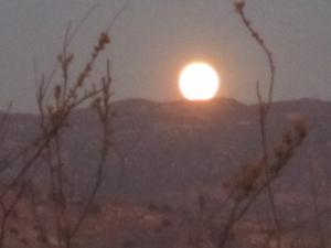 Moonrise over Sierra Peak, Santa Ana Mountains
