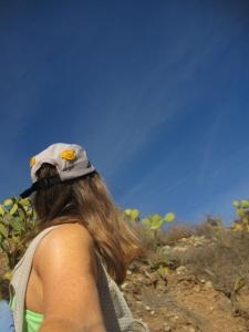 Blue sky selfie . . .