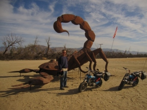 Easy to find: Ricardo Breccia's metal sculptures are all over the Borrego Springs area.