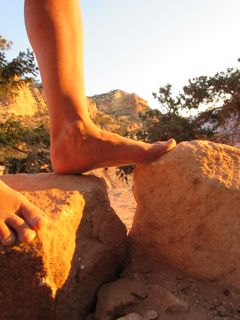 Notice how the rocks are the same color as my skin . . . I am becoming lithic . . .
