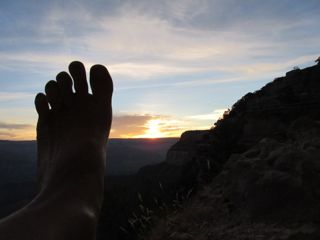 "Of course I had fun taking ""foot selfies"" along the Bright Angel Trail . . . a weird hobby, for sure :)"