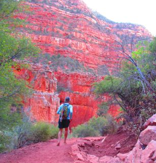 After the class ended, I headed to the North Rim for some time away from the crowds. This is how I spent my 55th birthday: running and hiking barefoot 5.5 miles down the North Kaibab Trail to the Pump House (near Roaring Springs).