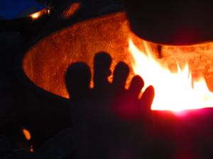 To sit and warm my toes at the campfire at the end of a day of high Sierra hiking . . . now that's my idea of a vacation.