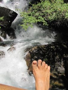 Another hike, another foot-selfie.