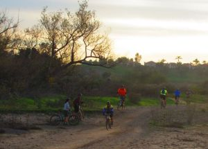 And what would an afternoon on the trails be like without herds of mountain bikers along the trail? (A rhetorical question that needs no answer . . . )