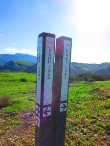 Sandtrap Trail marker