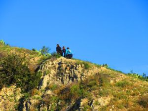 These three ladies inspired me with their teamwork pushing each other up this steep section of the Chutes Trail.