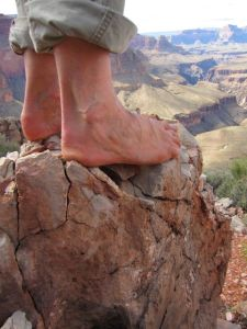 Barefoot at the Grand Canyon