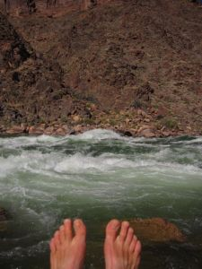 Bare feet and Hermit Rapids