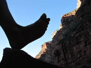 barefoot silhouette grand canyon