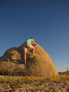 barefoot bouldering Joshua Tree National Park