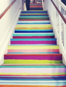 painted stairs from pinterest