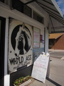 whyld ass cafe sign