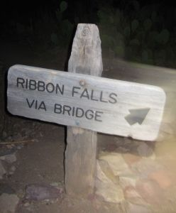 ribbon falls sign