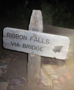 ribbon falls sign
