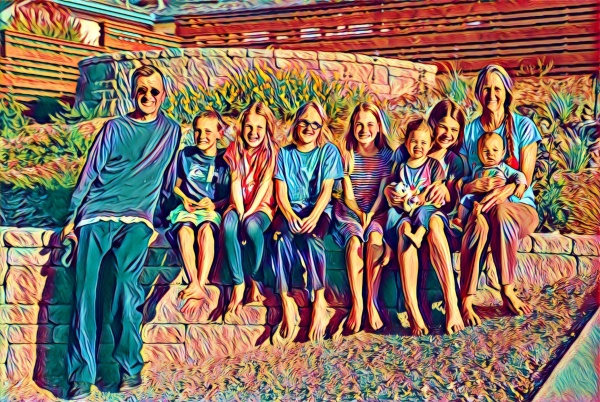 colorful grandkids