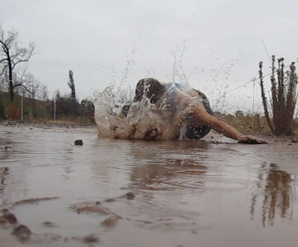 barefoot puddle faceplant