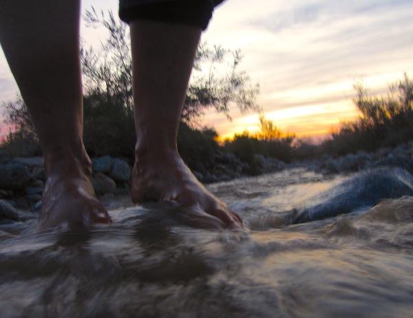 barefoot desert dawn