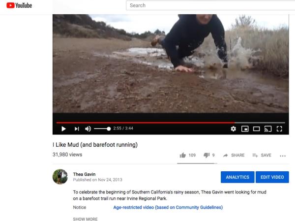 muddy pratfall