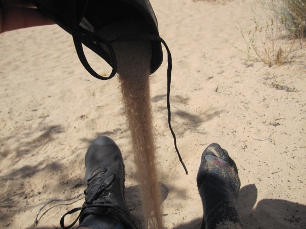 sand in shoes after dune hiking