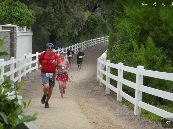 OPA 10k horse trail barefoot runner