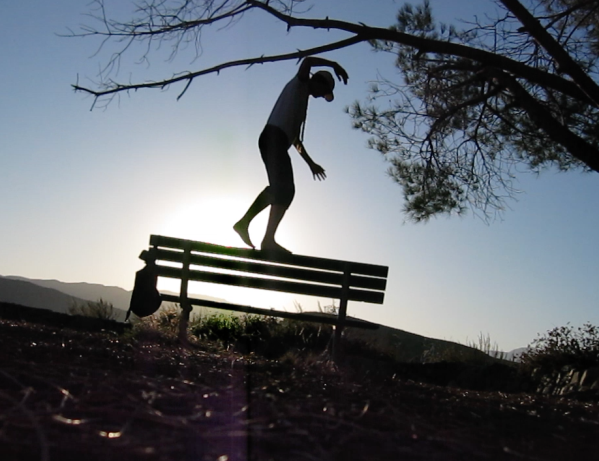 bench balance silhouette