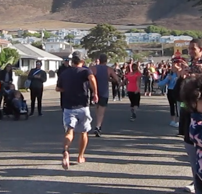 barefoot half marathon finish