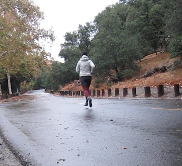 airborne in the rain