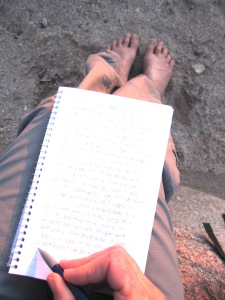 morning desert writing