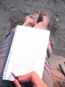 morning desert writing