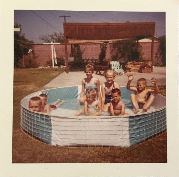 back yard pool 1961